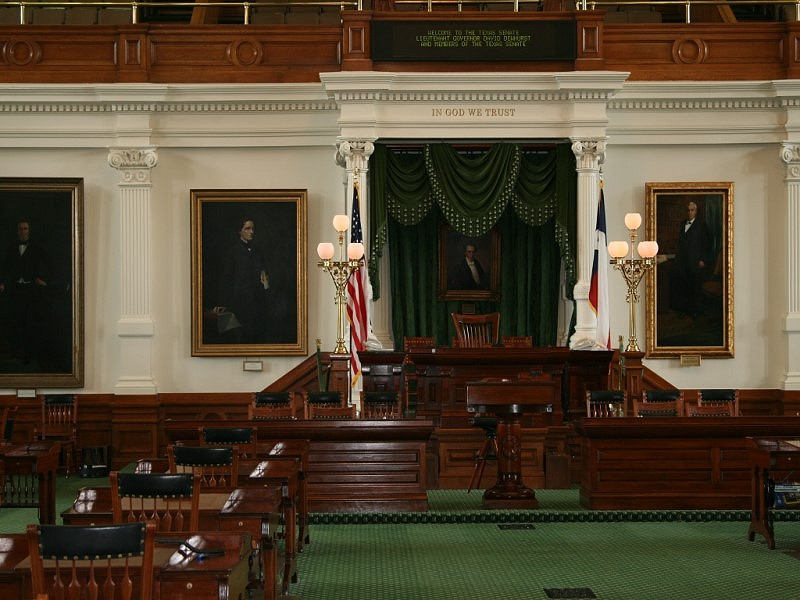 The Texas Senate chamber.